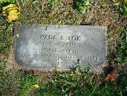 Wade E Fox