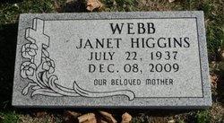Janet <I>Higgins</I> Webb