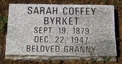 Sarah <I>Coffee</I> Byrket