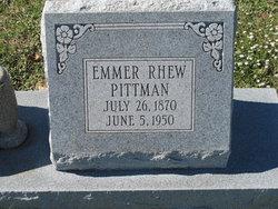 Emma <I>Rhew</I> Pittman