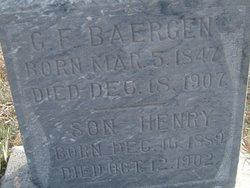 """Gerhard F """"George"""" Baergen"""