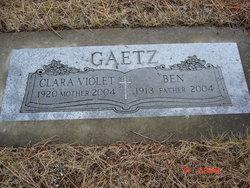 Clara Violet <I>Phillips</I> Gaetz