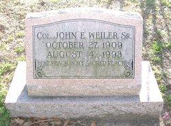 Col John Eugene Weiler, Sr