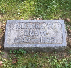 Martha Almira <I>Westcott</I> Snow