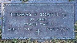 Thomas F Sowell, Sr