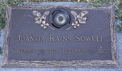 Juanita <I>Rains</I> Sowell