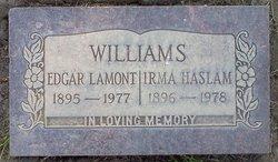 Irma <I>Haslam</I> Williams