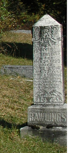 "Frances Scott ""Fannie"" <I>Koger</I> Rawlings"