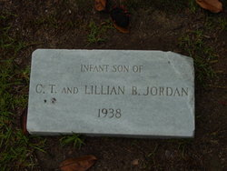 Infant Son of Carroll Thomas and Lillian Barfield Jordan