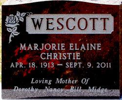 Marjorie Elaine <I>Christie</I> Wescott