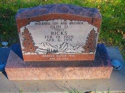 """Olin O. """"Toots"""" Ricks"""