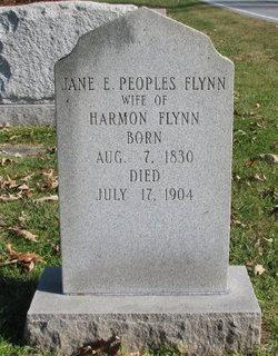 Jane E <I>Peoples</I> Flynn