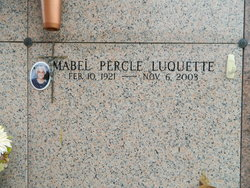 Mabel Percle <I>Hebert</I> Luquette