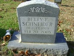 Betty E. Schneider