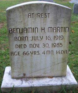 Benjamin H Martin