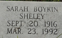 Sarah Agnes <I>Boykin</I> Sheley