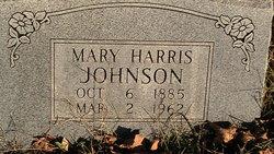 Mary <I>Harris</I> Johnson