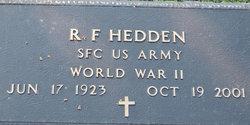 R F Hedden