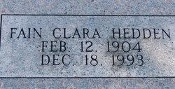 Fain Clara Hedden