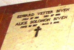 Alice <I>Solomon</I> Biven