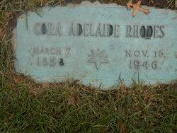 Cora Adelaide <I>Goff</I> Rhodes