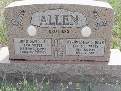 """Byron Dean """"Tuk-Ell-Watts"""" Allen"""