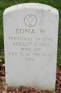 Edna W. <I>Welch</I> Thomas