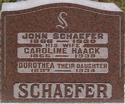 Caroline <I>Haack</I> Schaefer