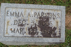 Emma Alma <I>Johnson</I> Parsons