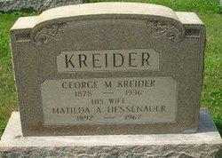George M Kreider
