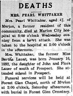 Bertha <I>Lauer</I> Whittaker