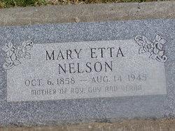 Mary Etta <I>Vorhies</I> Nelson