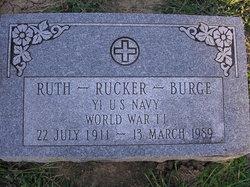 Ruth <I>Rucker</I> Burge