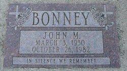 John M Bonney