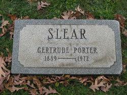 Gertrude <I>Porter</I> Slear