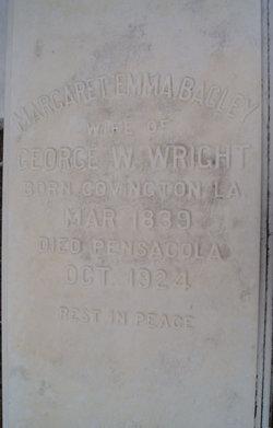 Margaret Emma <I>Bagley</I> Wright