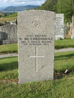 Pvt D McCorquodale