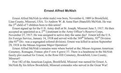 Lieut Ernest Alfred McNish