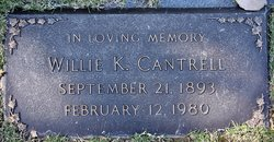 Willie K Cantrell