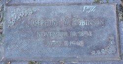 Josephine M Robinson