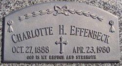 """Charlotte H. """"Lottie"""" <I>Vorderstrasse</I> Effenbeck"""