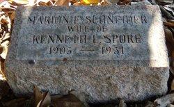 Marion Elizabeth <I>Schneider</I> Spore