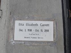 Etta Elizabeth Garrett