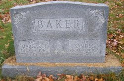 """Margaret Elizabeth """"Maggie"""" <I>Lakes</I> Baker"""