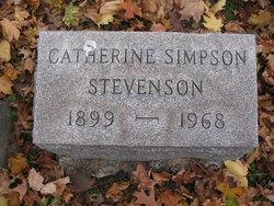 Catherine <I>Simpson</I> Stevenson