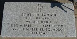 """Edwin H """"Ed"""" Schauf"""