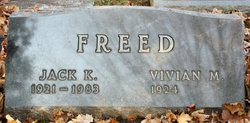 Vivian M <I>Wrigley</I> Freed