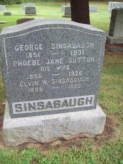 Phoebe Jane <I>Sutton</I> Sinsabaugh