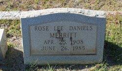 Rose Lee <I>Daniels</I> Merritt