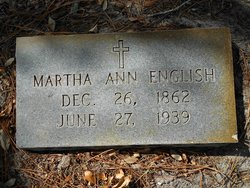Martha Ann <I>Posey</I> English